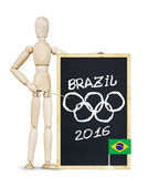 Concept of Olympics in Brazil Royalty Free Stock Image