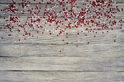 concept-onafhankelijkheid dag van Turkije, nationale document vlaggen van de staat Turkije met witte rode confettien op witte geb royalty-vrije stock foto