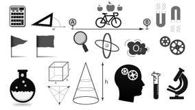 Concept onderwijs en scienc informatiegrafiek stock illustratie