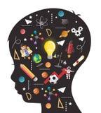 Concept onderwijs van kinderen de generatie van kennis royalty-vrije illustratie
