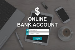 Concept of online bank account Royalty Free Stock Images