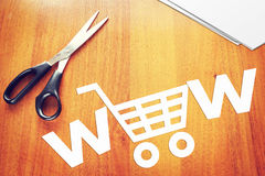 Concept of online commerce Royalty Free Stock Photo