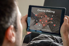 Concept of online dating Royalty Free Stock Photo