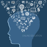 Concept of online education Royalty Free Stock Image