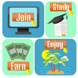 Concept of online education Royalty Free Stock Photography