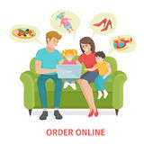 Concept  for online gifts ordering Royalty Free Stock Image