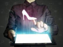 Concept online het winkelen royalty-vrije stock afbeeldingen