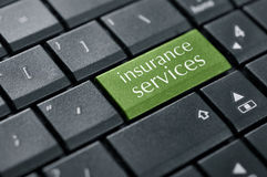 Concept of online insurance. Royalty Free Stock Image