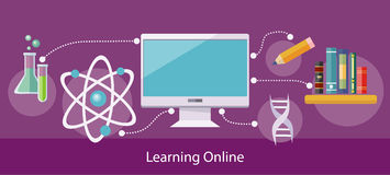 Concept of Online Learning stock illustration