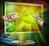 Concept of online making money Stock Image