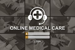 Concept of online medical care royalty free stock photography