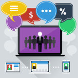 Concept of online meeting, conference, webinars Royalty Free Stock Photography