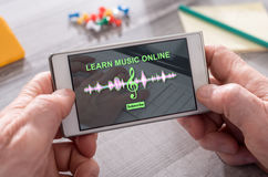 Concept of online music lesson Royalty Free Stock Photo