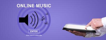 Concept online muziek royalty-vrije stock foto's
