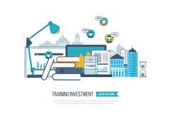 Concept online onderwijs, trainingscursussen, universiteit, leerprogramma's Stock Afbeelding