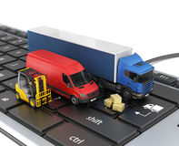 Concept of online order delivery. Stock Images