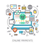 Concept of online payments. Stock Images