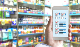 The concept of online pharmacy medicine online payment  Healthca Royalty Free Stock Photography