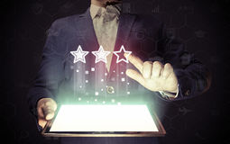 Concept of online rating Stock Photo