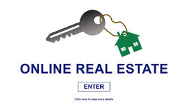 Concept of online real estate Royalty Free Stock Photography