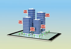 Concept of online real estate market Stock Photo