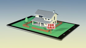 Concept of online real estate market Royalty Free Stock Photo