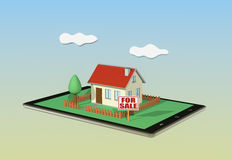 Concept of online real estate market Royalty Free Stock Images