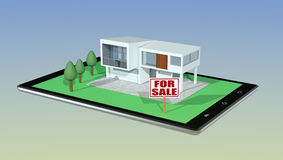 Concept of online real estate market Royalty Free Stock Image