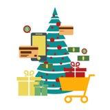 Concept of online shop, e-commerce store, internet shop . christ stock illustration