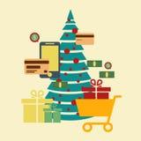 Concept of online shop, e-commerce store, internet shop . christ Royalty Free Stock Photo