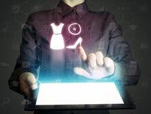 Concept of online shopping Stock Photos