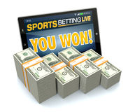 Concept of online sport bets Royalty Free Stock Photos