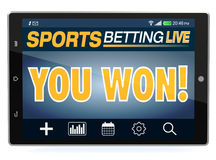Concept of online sport bets Stock Images