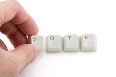 Concept of online vote Royalty Free Stock Photography