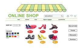 Concept Online Winkel stock foto