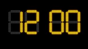 Concept op elektronisch scorebord voor 2019 stock video