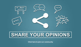 Concept of opinions sharing. Illustration Royalty Free Stock Photo