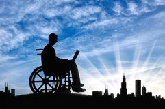 Concept of the opportunity to work for people with disabilities Royalty Free Stock Photography