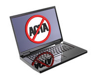 The concept of opposition to Trade Agreement ACTA. Royalty Free Stock Photo