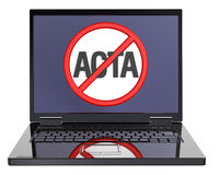 The concept of opposition to Trade Agreement ACTA. Stock Photos