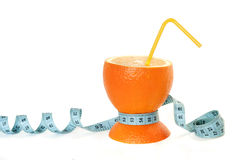 Concept of an orange. Image concept of healthy nutrition and diet Royalty Free Stock Photo