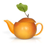 Concept orange tea Royalty Free Stock Photography