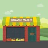 Concept organique du marché illustration de vecteur