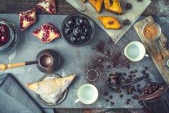 Concept of oriental dessert top view Stock Image