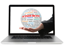 Concept of outsourcing Stock Photos