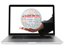 Concept of outsourcing stock photos