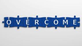 Concept overcome Stock Image