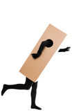Concept: package delivery make work fast. Concept: a package delivery make work fast Stock Image