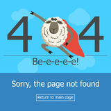Concept page 404 error. Stock Photo