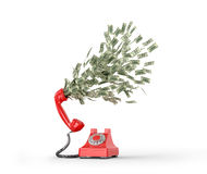 The concept of paid telephone calls. Stock Photos